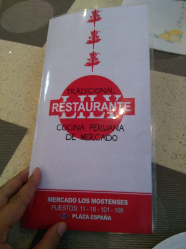 Restaurante Lily Mercado Mostenses Madrid