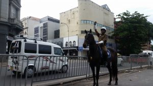 Policía a caballo